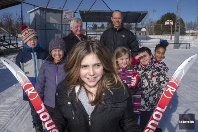 Un projet de biathlon parascolaire à Saint-Barnabé permettra... (Stéphane Lessard, Le Nouvelliste)