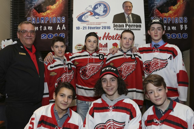 Le président du Tournoi international de hockey bantam... (photo Christophe Boisseau-Dion)