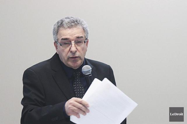 Le candidat Gabriel Céré... (Etienne Ranger, LeDroit)