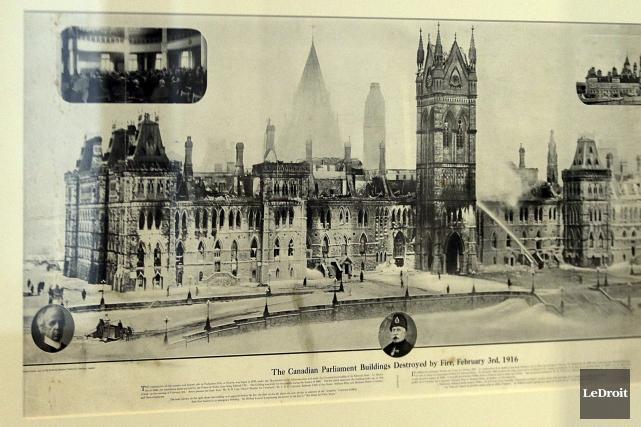 L'expositionFaçonnés par le feu: les édifices du Parlementrevient... (Etienne Ranger, LeDroit)