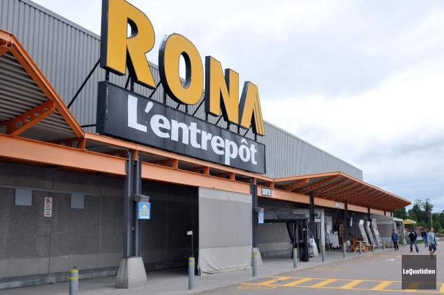 Le géant québécois de la quincaillerie RONA a... (Photo: Le Quotidien)