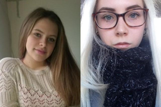 Sarah Hauptman, 16 ans, et Kelly Martin-Nolet, 14... (PHOTOS FOURNIES PAR LES FAMILLES)