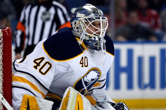 Robin Lehner a raté trois mois d'action en raison... (Photo Timothy T. Ludwig, USA TODAY Sports)