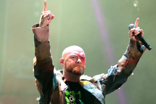 Ivan Moody du groupe Five Finger Death Punch.... (PHOTO ARCHIVES AP)