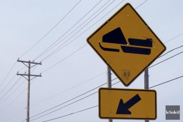 Un accident de motoneige est survenu mardi soir.... (Photothèque Le Soleil)