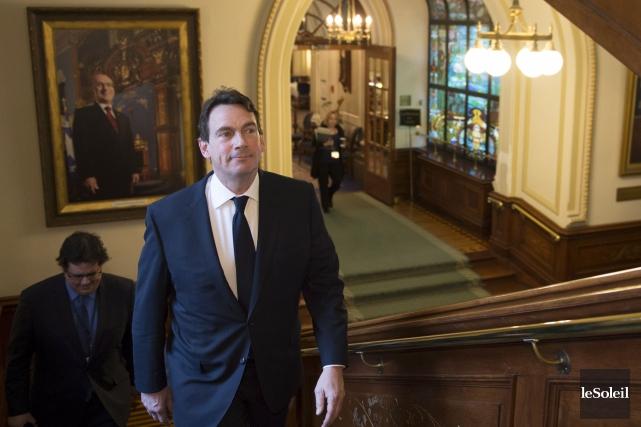 Le chef du Parti québécois, Pierre Karl Péladeau,... (Photothèque Le Soleil, PC Jacques Boissinot)