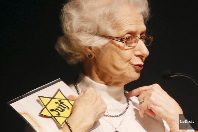 Marguerite Élias Quddus est une survivante de l'Holocauste.... (Simon-Séguin Bertrand, LeDroit)
