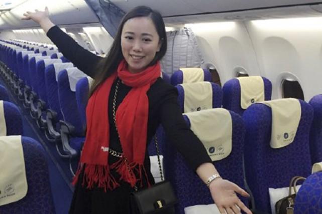La jeune femme étaitl'unique passagère d'un avion commercial,... (AFP)