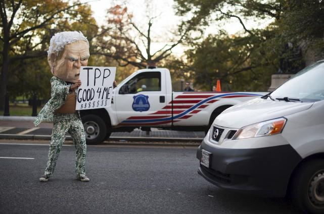 L'accord de partenariat transpacifique ne fait pas l'unanimité...... (AFP, Jim Watson)