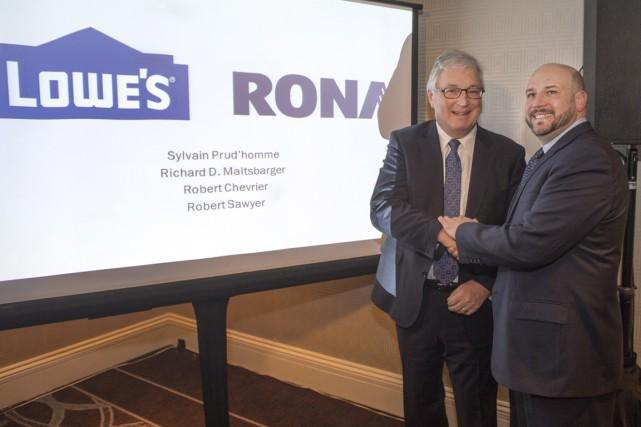 Robert Chevrier, président du conseil d'administration de Rona... (La Presse Canadienne)
