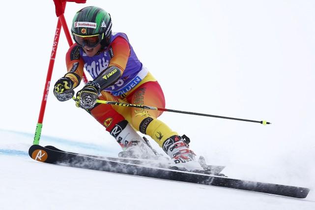À défaut de skier parmi l'élite mondiale alpine ces jours-ci, Mikaela Tommy... (Alessandro Trovati-Pentaphoto)