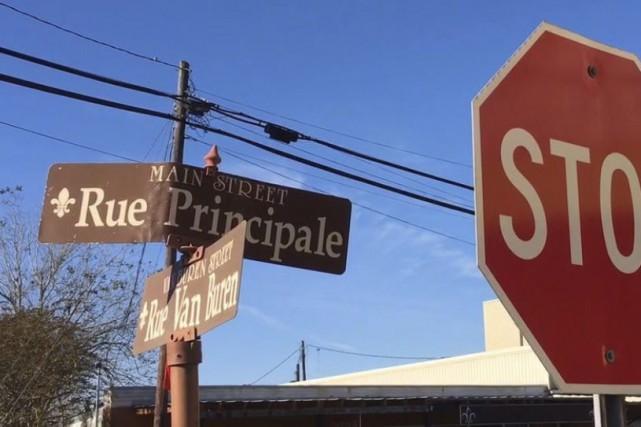 Une intersection de Breaux Bridge, en Louisiane, où... (La Presse Canadienne, Alex Panetta)