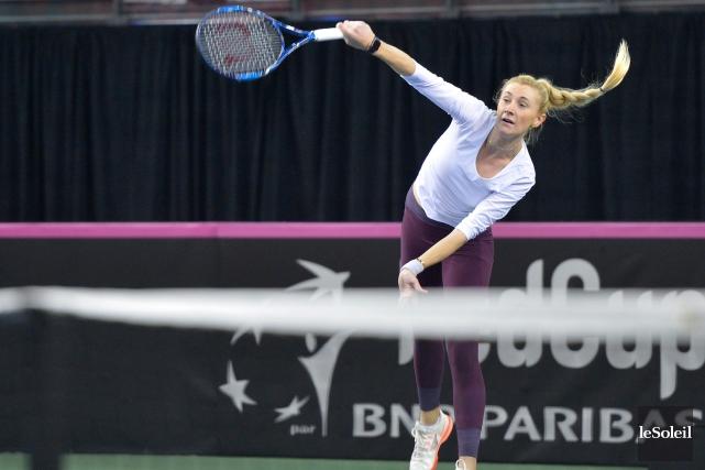 Olga Govortsova en est à sa quatrième visite... (Le Soleil, Yan Doublet)
