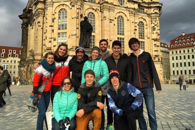 Après un gros entraînement à Dresden, en vue... (Photo tirée de facebook)