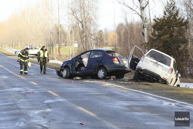 Une conductrice âgée de 18 ans a perdu... (Janick Marois, La Voix de l'Est)
