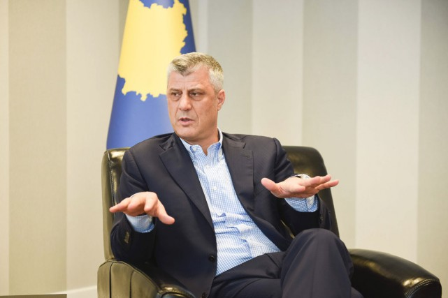 Le ministre des Affaires étrangères kosovar, ancien premier... (PHOTO ARMEND NIMANI, AFP)