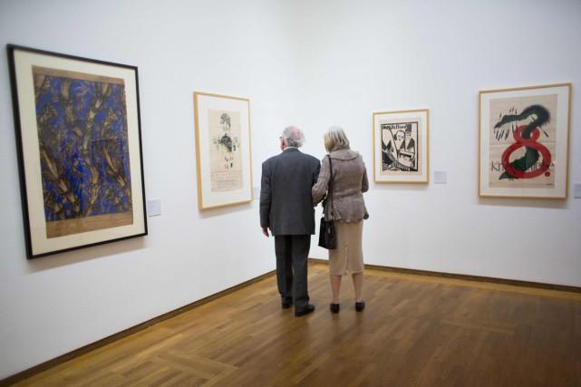 Quelques-unes des oeuvres présentées au musée Léopold.... (PHOTO AFP)