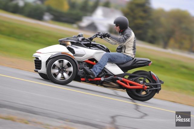 Le roadster Can-Am Spyder F3 a été lancé... (Archives La Presse)