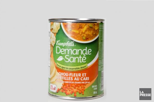 Points forts de cette soupe en conserve:sa teneur... (PHOTO MARCO CAMPANOZZI, LA PRESSE)