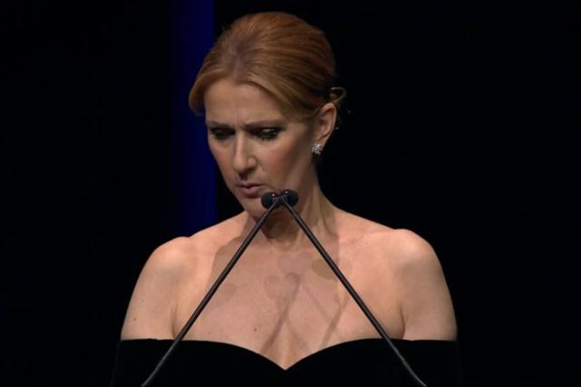 Céline Dion a pris la parole lors de... (Photo tirée de la vidéo de l'événement)