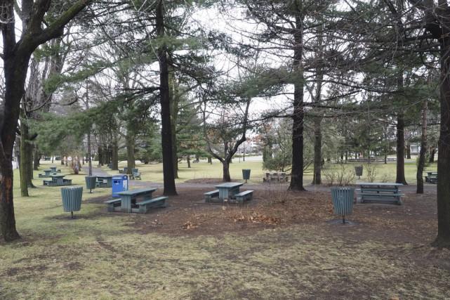Le projet de réaménagement du parc Pelletier à... (Photo archives La Voix de L'Est)