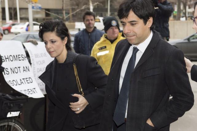 L'avocate Marie Henein et Jian Ghomeshi... (Frank Gunn, Archives PC)