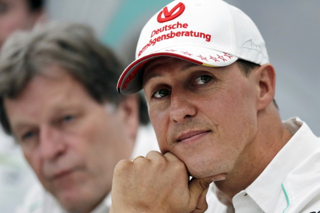 L'ex-champion de F1 Michael Schumacher, avant son grave... (Archives Associated Press)