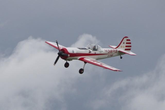 La première mouture du spectacle aérien des Cantons-de-l'Est... (Photo archives La Voix de L'Est)