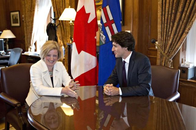 Justin Trudeau et Rachel Notley ont participé à... (Jason Franson, PC)