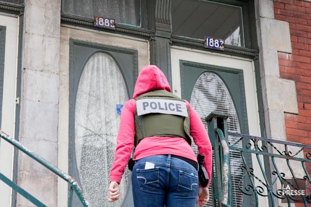 Au total, 14 personnes ont été arrêtées dans... (Alain Roberge, Archives La Presse)