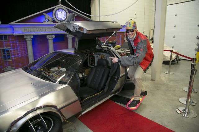 Une réplique de la fameuse voiture DeLorean du... (Spectre Média, René Marquis)