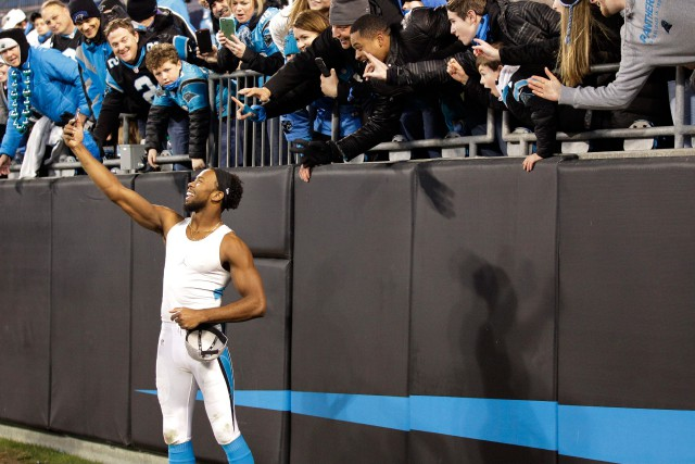 Josh Norman, le volubile demi de coin des... (Photo Chuck Burton, archives Associated Press)