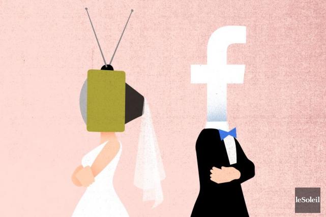 Télé et réseaux sociaux sont devenus inséparables. La première se sert beaucoup... (Infographie Le Soleil)