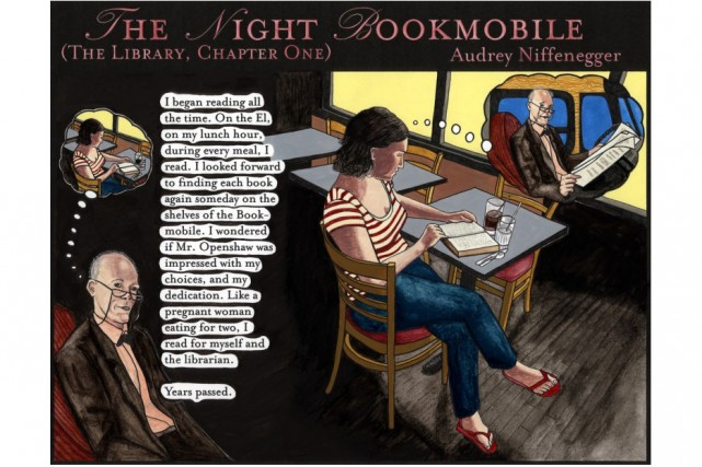 The Night Bookmobile de l'Américaine Audrey Niffenegger.... (PHOTO SITE INTERNET DE LA HOUSE OF ILLUSTRATION)