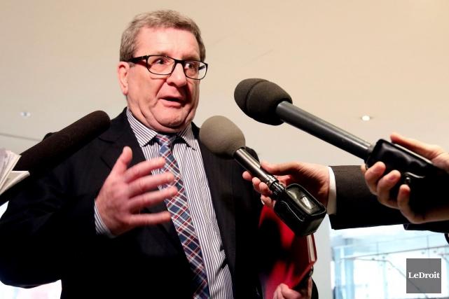 Régis Labeaume était à Ottawa pour cette réunion... (Le Droit, Patrick Woodbury)
