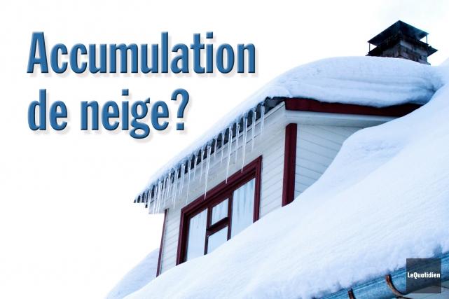 L'accumulation de neige et de glace peut obstruer... (Photomontage Le Quotidien)