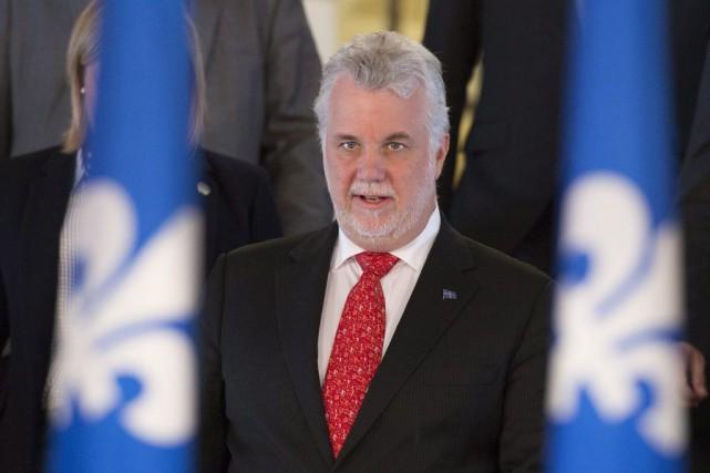 Le premier ministre Philippe Couillard.... (Archives La Presse Canadienne)