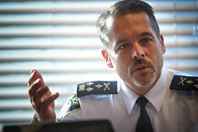 Le chef de la police de Laval, Pierre... (PHOTO PATRICK SANFAÇON, ARCHIVES LA PRESSE)