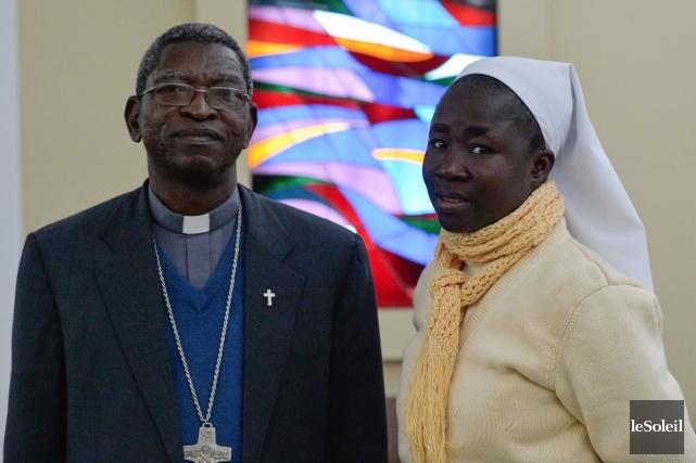 Mgr Pierre Claver Malgo, évêque de Fada-N'Gourma, au... (Le Soleil, Caroline Grégoire)