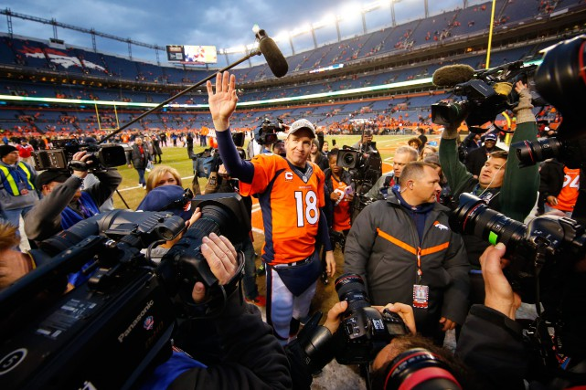 Le quart-arrière vétéran Peyton Manning... (PHOTO KEVIN JAIRAJ, USA TODAY SPORTS )