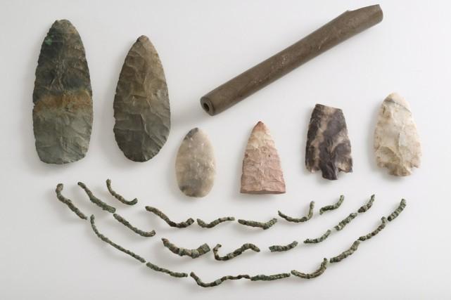 Des pointes de flêche et des fragments d'un... (Photo PC)
