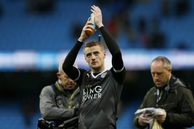 Jamie Vardyest devenu la coqueluche de Leicester avec... (PHOTO JASON CAIRNDUFF, REUTERS)