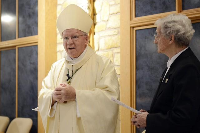 En janvier, Mgr André Rivest a rencontres a... (Archives Le Progrès-Dimanche)
