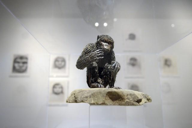 Intitulée L'homme et la matière, l'exposition de Don... (Photo Le Progrès-Dimanche, Jeannot Lévesque)