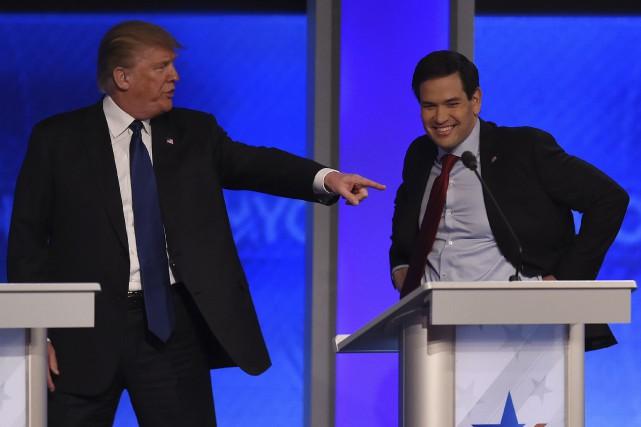 Donald Trump profite d'une pause dans le débat... (AFP, Jewel Samad)