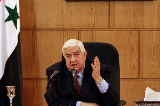 Le ministre syrien des Affaires étrangères, Walid al-Moallem... (AFP, LOUAI BESHARA)