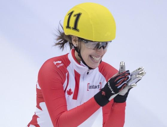 Marianne Saint-Gelais a remporté l'or au 500m, dimanche.... (Photo AP)
