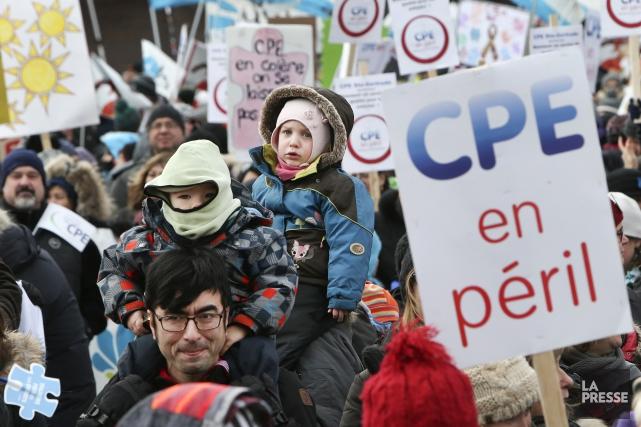 Les manifestants de la Mauricie et du Centre-du-Québec... (La Presse)