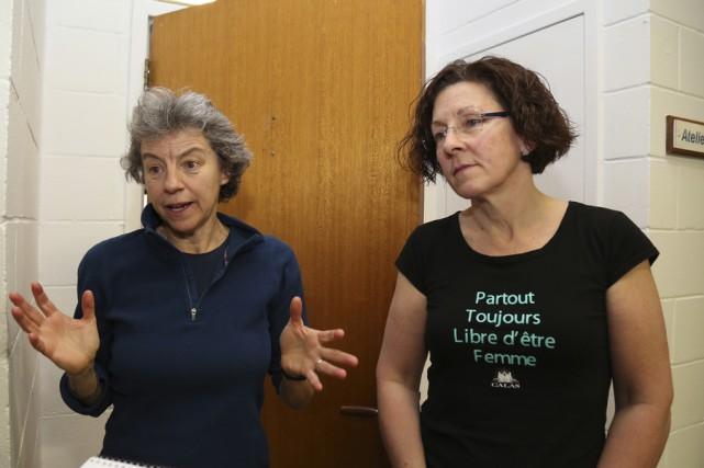 Céline Godbout, formatrice du CRAN des femmes et... (photo Julie Catudal)
