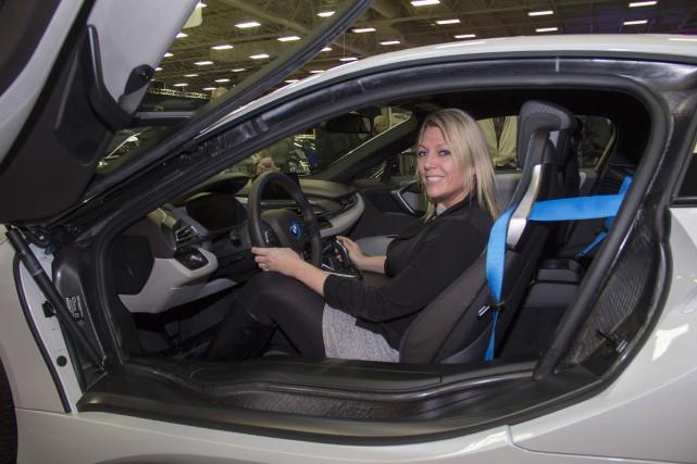 Sarah-Ève Labrecque, coordonnatrice du Salon de l'auto, était... (Spectre Média, Marie-Lou Béland)